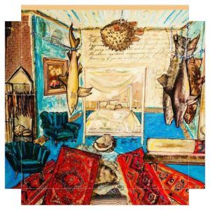 """Caribbean Dormitory mit Kugelfisch"" Neo Pop Art Foto Leinwand"