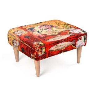CHINA RED Fußhocker