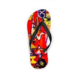 KOI RED Flip Flops
