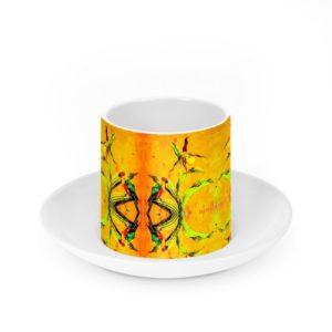 Orchid Yellow I Porzellantasse mit Untertasse