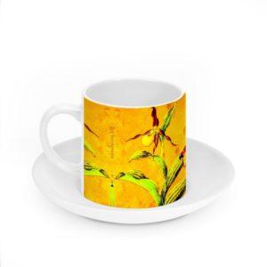 Orchid Yellow II Porzellantasse mit Untertassse