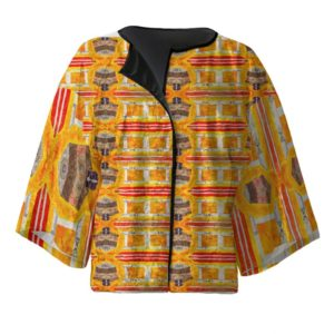 Orchid Yelllow Kimono Jacket