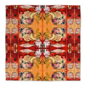BIG CHINA RED – 2 designer Stoff Servietten