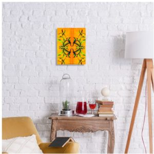 Orchid Yellow Print
