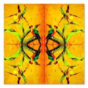 2 Stück ORCHID YELLOW Einstecktuch